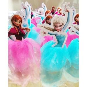 Tubete Frozen personalizado saia com confete