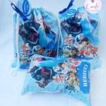 Lembrancinhas  Personalizada  4 aninhos Frozen e  Kit sacochila +Almofada