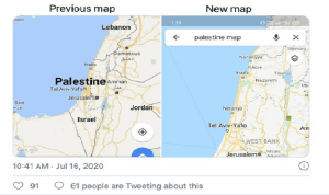 Sebuah unggahan viral yang menyoal tuduhan Google menghapus Palestina dari Google Maps, tengah dipebincangkan pengguna media sosial di Arab