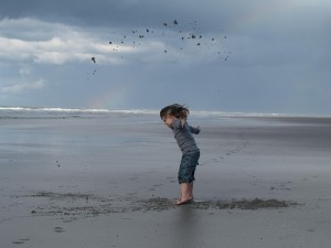 Child on the beach Carina Asp