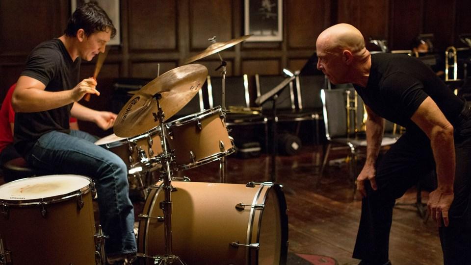 """Miles Teller og J. K. Simmons i """"Whiplash""""."""