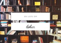 En liste om bøker - Carina Behrens - carinabehrens.com