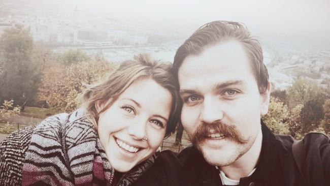 Kjærlighet! Carina og Eirik med Budapest i bakgrunnen.