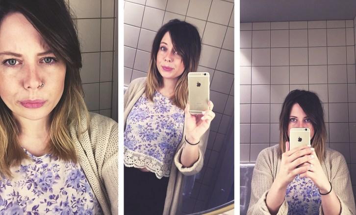 Selfie i speilet. Carina Behrens - carinabehrens.com
