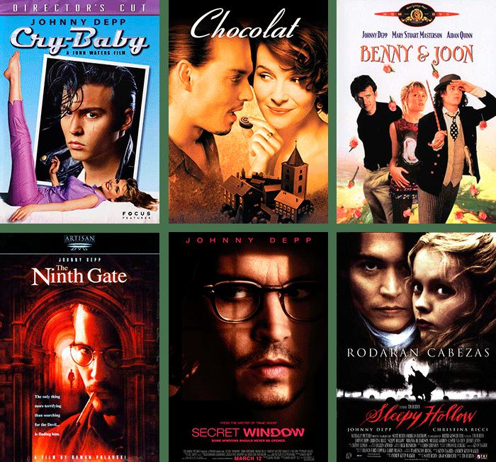 Mine Johnny Depp-favoritter. Filmplakater med Johnny. Carina Behrens. carinabehrens.com