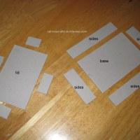 Orange Origami Paper Box
