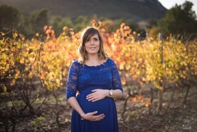 femme enceinte robe bleue montpellier