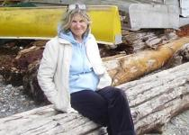 Dr. Patricia Boston, clinical professor in the Faculty of Medicine at the University of British Columbia, at a beach on Bowen Island.