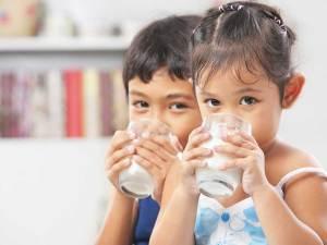 milk intake by kids
