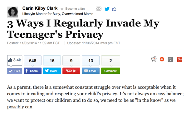 Three Ways I regularly Invade My Teenager's Privacy