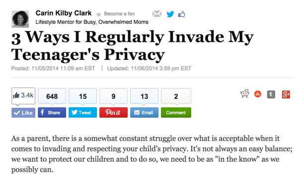 Three Ways I regularly Invade My Teenager's Privacy