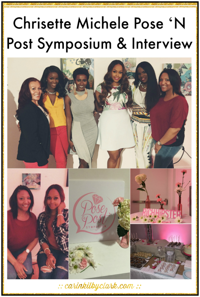 Chrisette Michele Pose 'N Post Symposium and Interview via @carinkilbyclark