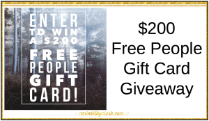 Enter For Your Chance To Win A $200 Free People Gift Card via @carinkilbyclark