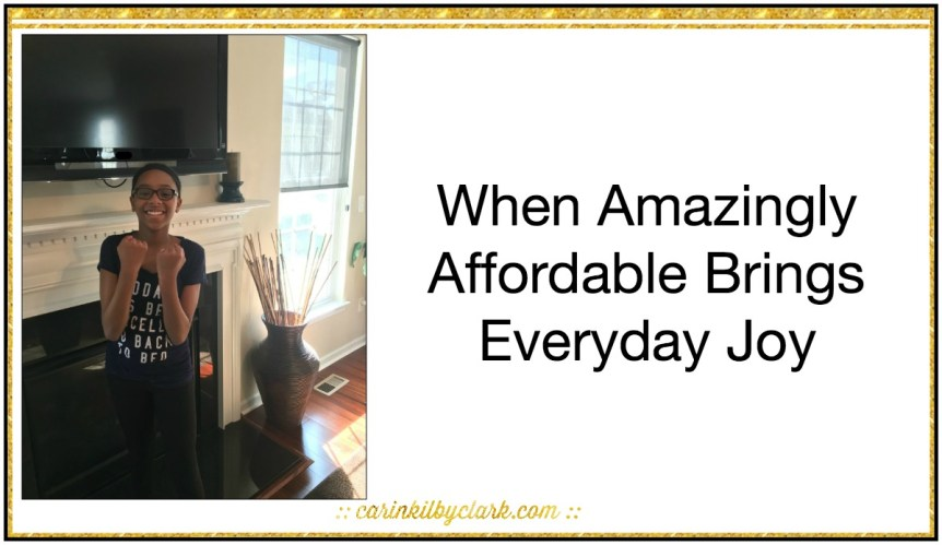 When Amazingly Affordable Brings Everyday Joy