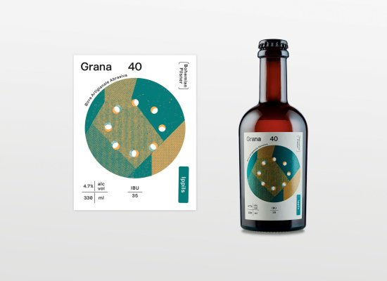Grana40, Birrificio Forum Iulii, visual identity by Carin Marzaro