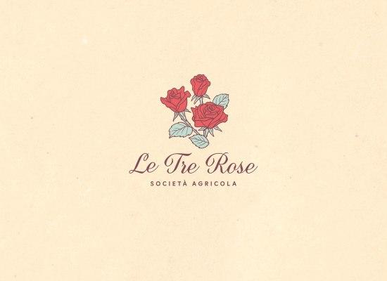 Le Tre Rose società agricola, logo restyle e identità visiva di Carin Marzaro