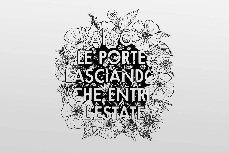 illustrazione e design di Carin Marzaro per le t-shirt di Doro Gjat