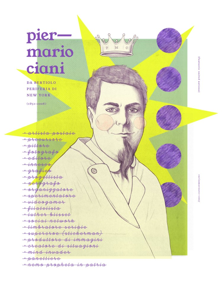 PMC (piermario ciani), portrait, illustration by Carin Marzaro
