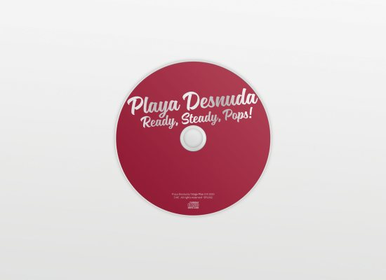 Grafica del digipack per l'album Ready Steady Pops del Playa Desnuda di Carin Marzaro