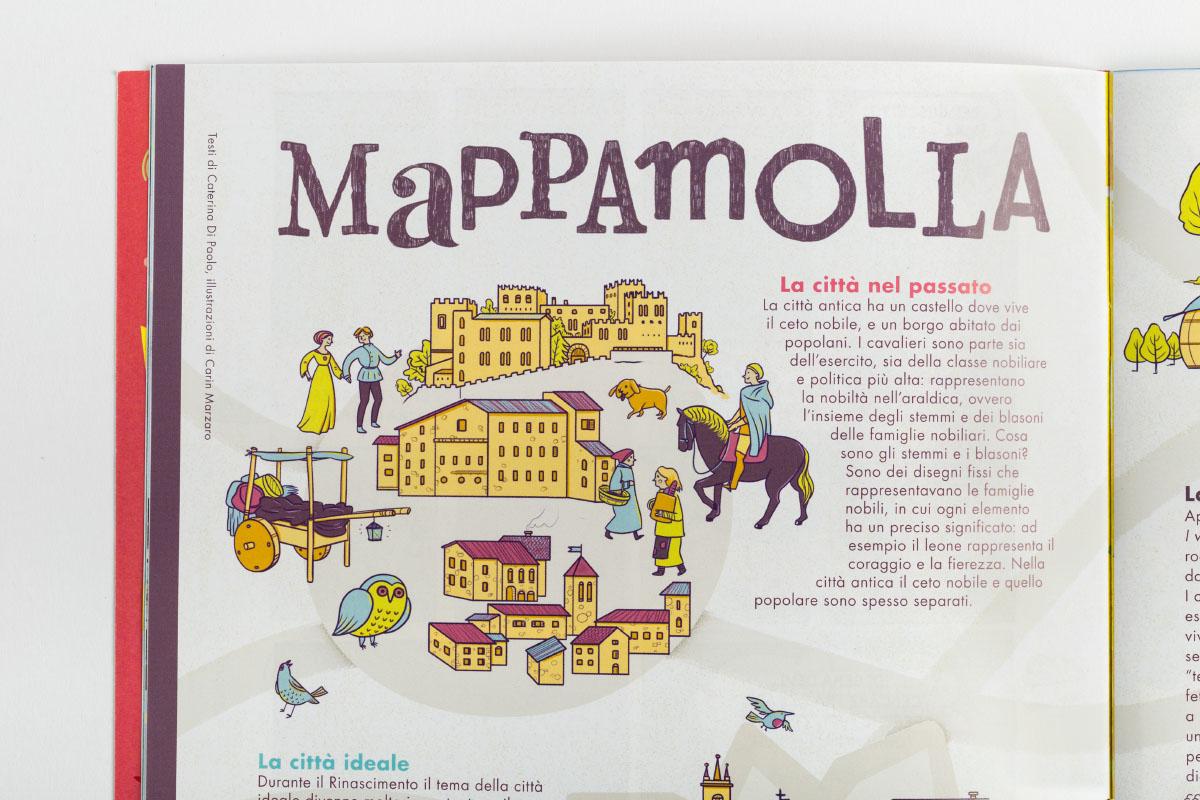 Illustrazioni de Le Città per il primo numero di MOLLA,