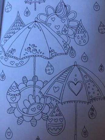 jardim de recordações pra colorir