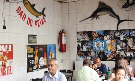 O bar tá pra peixe