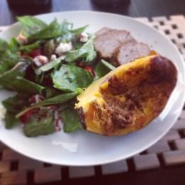 pork and acorn squash