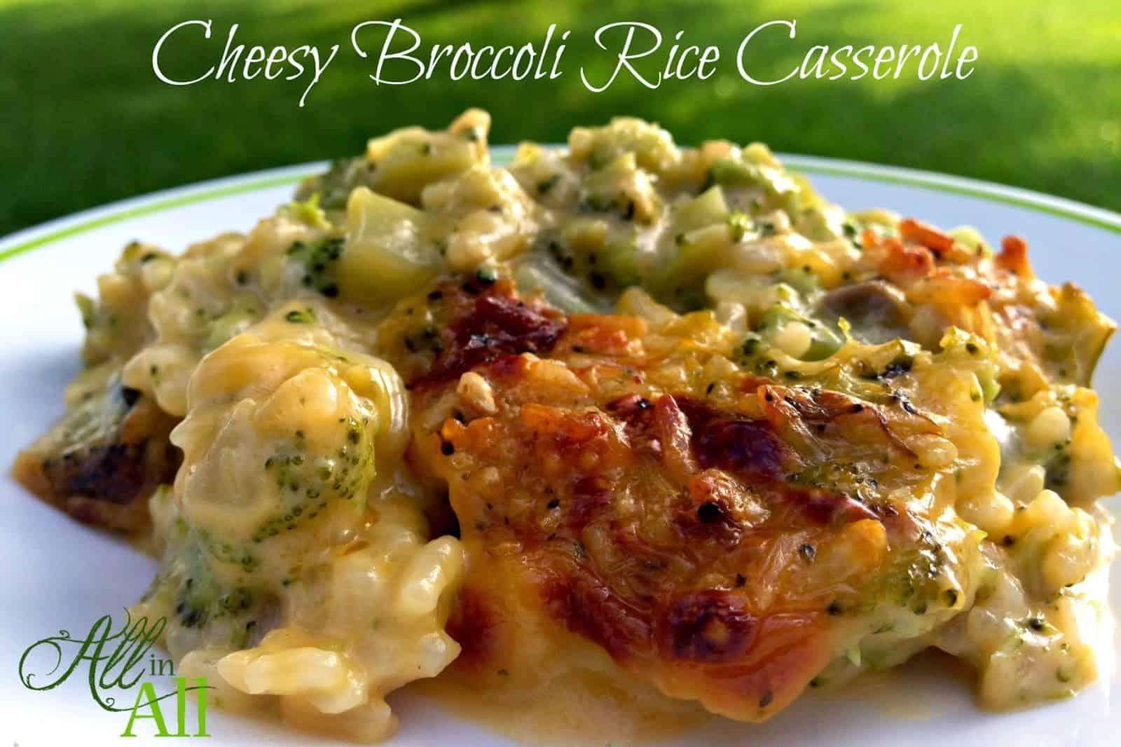 Cheesy broccoli rice casserole all in all for Broccoli casserole with fresh broccoli