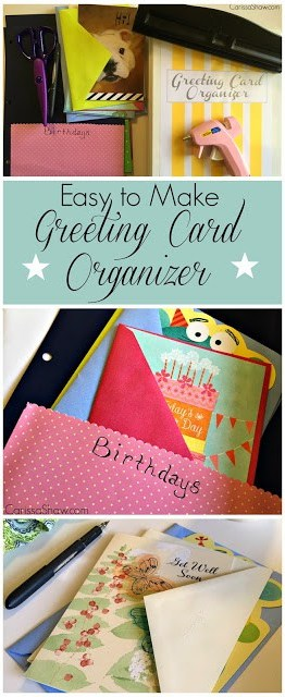 Greeting Card Organizer | This easy project will help you organize greeting cards so you always have them available when needed.