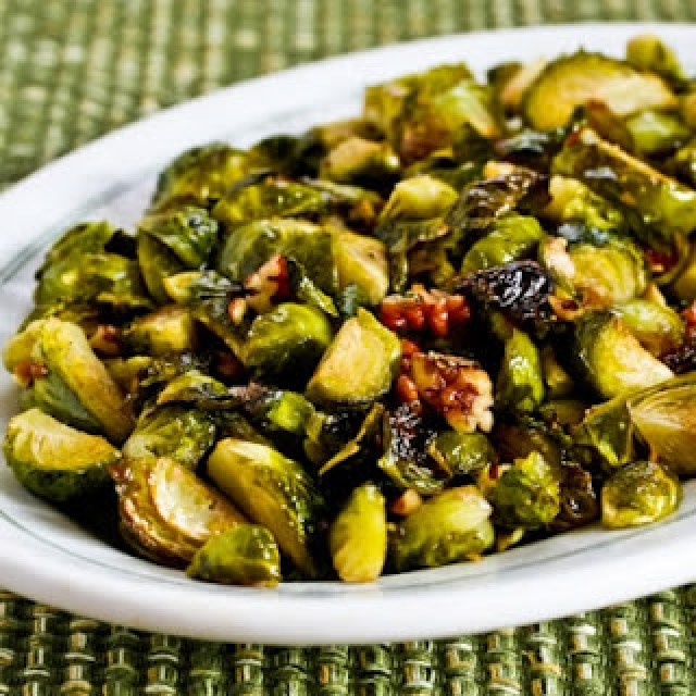 http://www.kalynskitchen.com/2009/11/recipe-for-roasted-brussels-sprouts.html