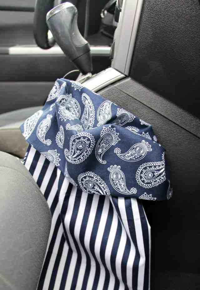 No Sew Reusable Car Trash Bags