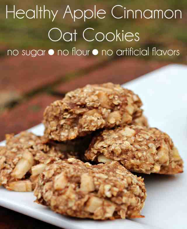 Oat Flour Chocolate Chip Cookies & Apple Cinnamon Oat Cookies