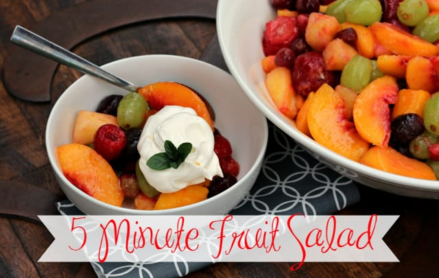Five Minute Fruit Salad PLUS Giveaway!