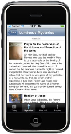 ProLife Rosary iPhone App-Luminous