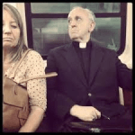 Pope Francis as Bergoglio taking the bus