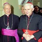 Don Alvaro with the then Cardinal Joseph Ratzinger