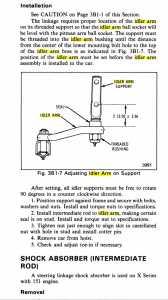 Idler Arm Instructions