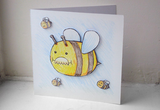 Dad-Bee Birthday Card