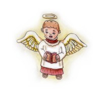 Xmas watercolours - Choir Angel