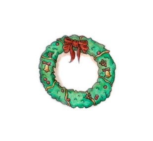 Xmas watercolours - Festive Wreath