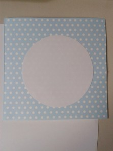 Polka dot card, with paper circle to test