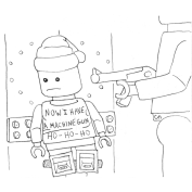 Inktober Day 12: Lego Die Hard