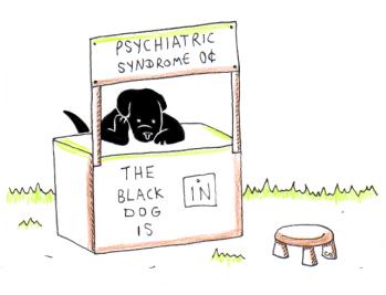 Inktober Day 25: The Black Dog