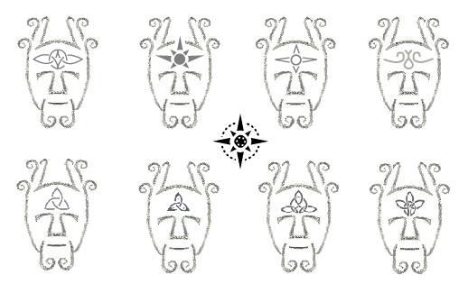 Design of forehead symbol