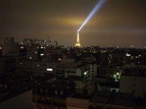 Paris de nuit, Tour Eiffel vue du 15e à Paris en 2010