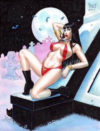VAMPIRELLA STARWATCHER Pinup by Sean-Patty