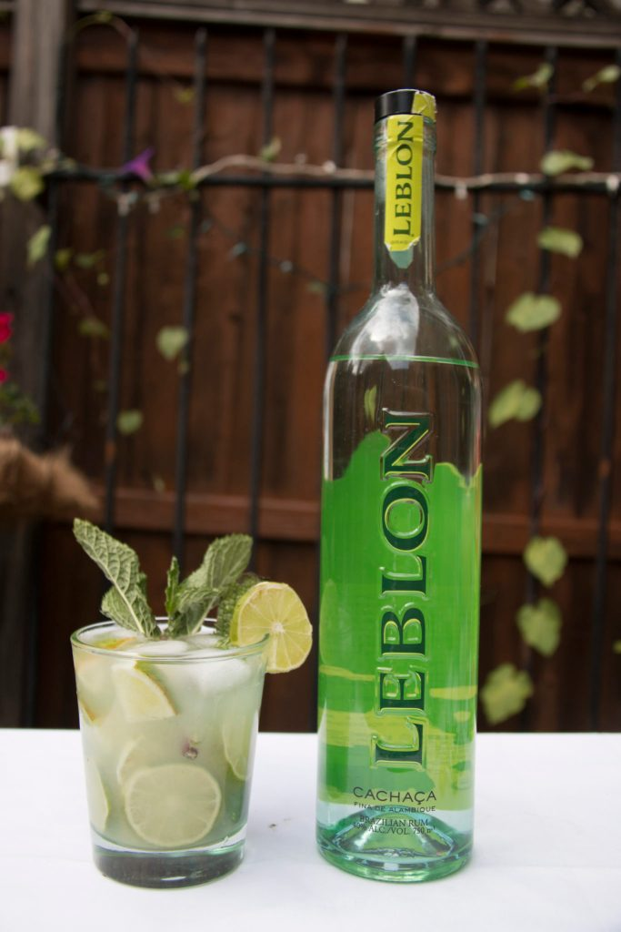 leblon cachaca mint caipi drink cocktail