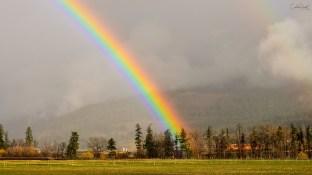 Rainbow over Coldstream Ranch, Coldstream, BC