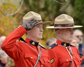 Remembrance Day Ceremony 2015, Coldstream, BC