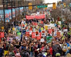 Stop Kinder Morgan: No Consent, No Pipeline. March and Rally, November 19, 2016, Vancouver, BC